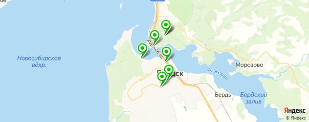 бары с живой музыкой на карте Бердска