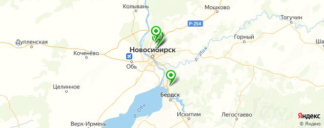 автошкола в рассрочку на карте Новосибирска