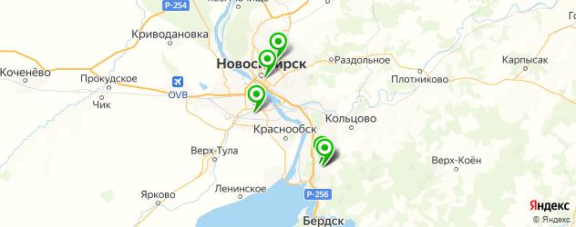 медико-санитарные части на карте Новосибирска
