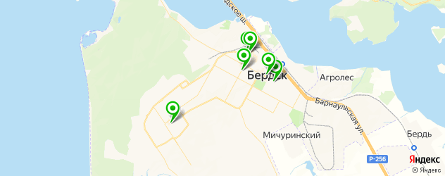 женские фитнес-клубы на карте Бердска