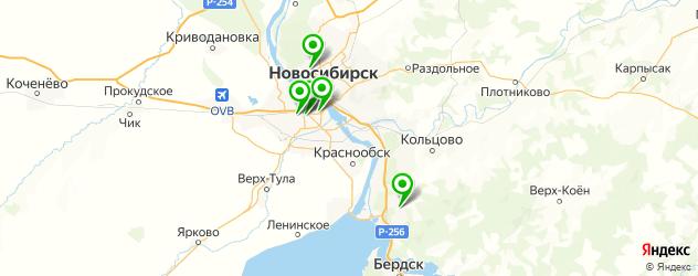 анализ на ВИЧ на карте Новосибирска