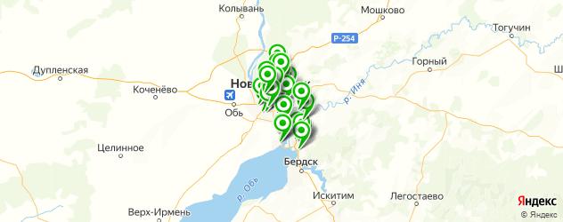 детские поликлиники на карте Новосибирска