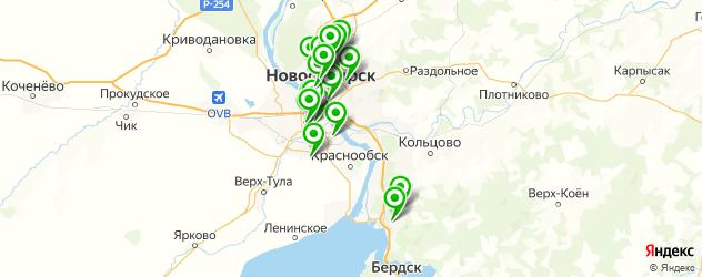 баночный массаж на карте Новосибирска