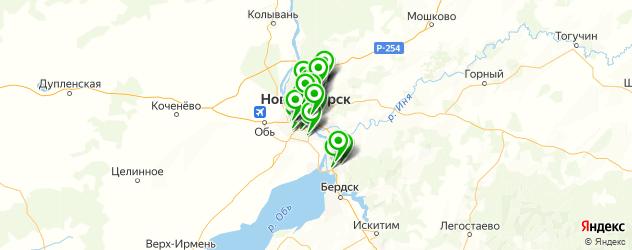 шины на карте Новосибирска