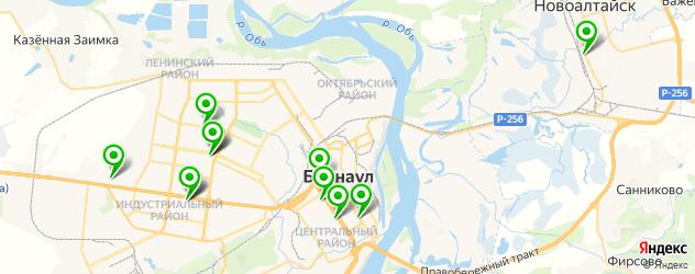кинотеатры на карте Барнаула