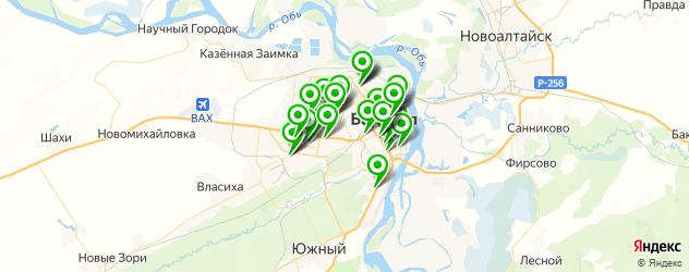 Спорт и фитнес на карте Барнаула