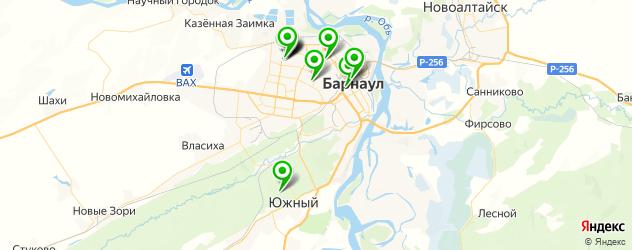 детские больницы на карте Барнаула