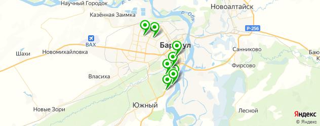 санатории на карте Барнаула