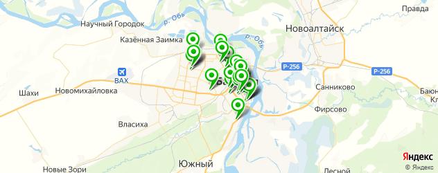 институты на карте Барнаула