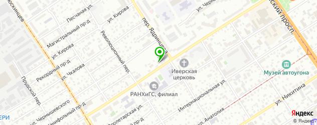 Установка ГБО Киа на карте Барнаула