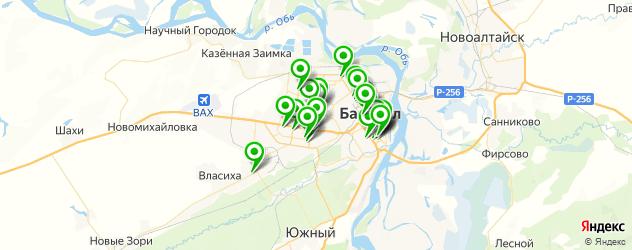 детские стоматологические поликлиники на карте Барнаула