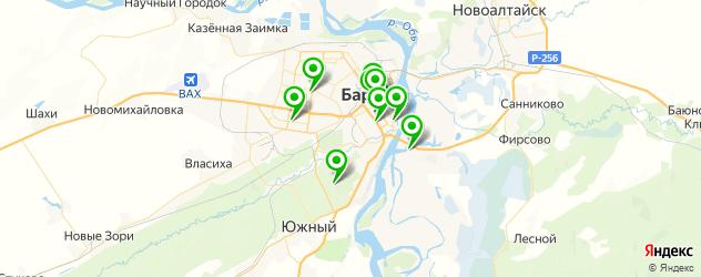 рестораны с детской комнатой на карте Барнаула