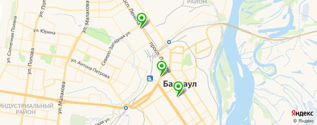 фитнесы с бассейном на карте Барнаула