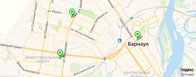 кальянные на карте Барнаула
