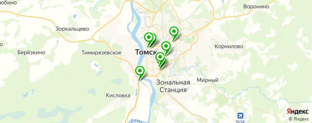 настольные игры на карте Томска