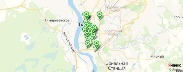 банкетные залы на карте Томска