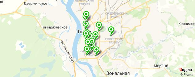 вегетарианские кафе на карте Томска