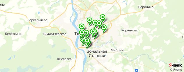 Доставка еды на карте Томска