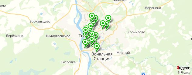 пирсинг ушей на карте Томска