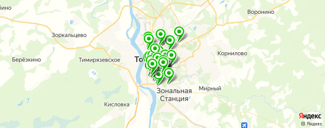 Доставка пиццы на карте Томска