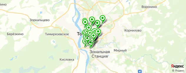 пиццерии на карте Томска
