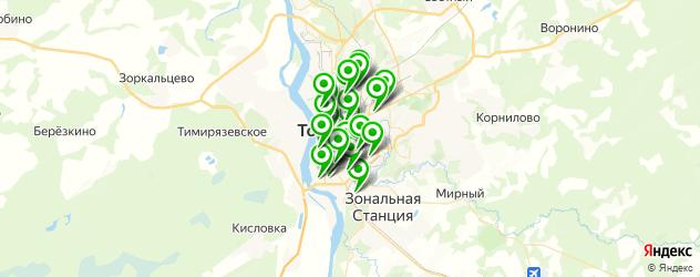 курсы на карте Томска