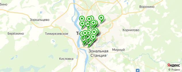 прачечные на карте Томска
