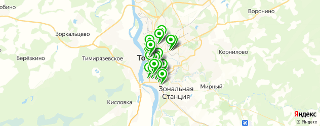 обменные пункты на карте Томска