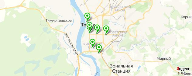 японские рестораны на карте Томска