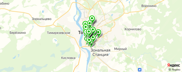 парикмахерские на карте Томска
