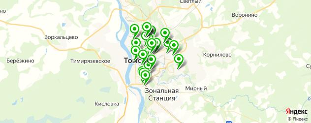 спортивные секции на карте Томска