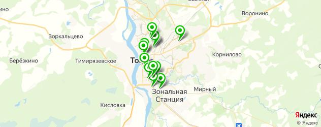 салоны бровей на карте Томска