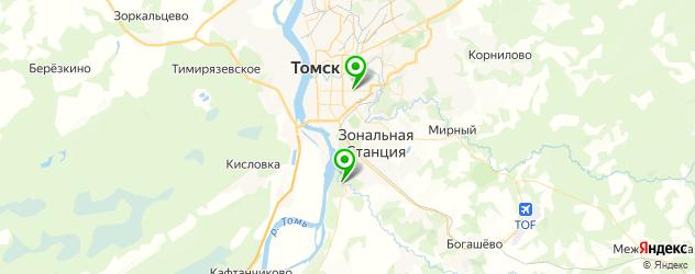 грузинские рестораны на карте Томска
