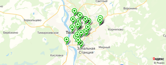 автосалоны на карте Томска