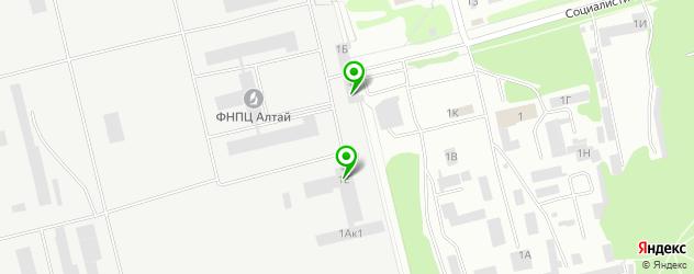 НИИ на карте Бийска