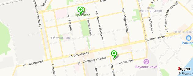 стадионы на карте Бийска