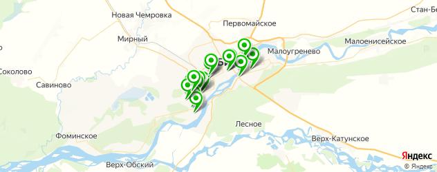 автошколы на карте Бийска