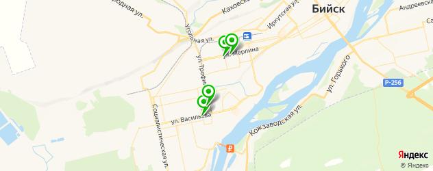 ночные клубы на карте Бийска