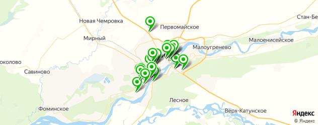 фасты фуд на карте Бийска