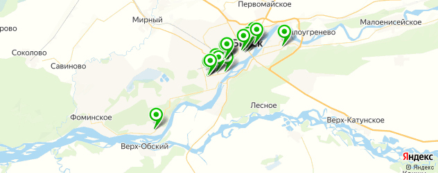 фотостудии на карте Бийска