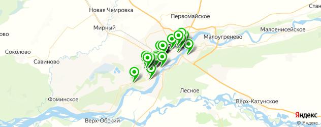 типографии на карте Бийска