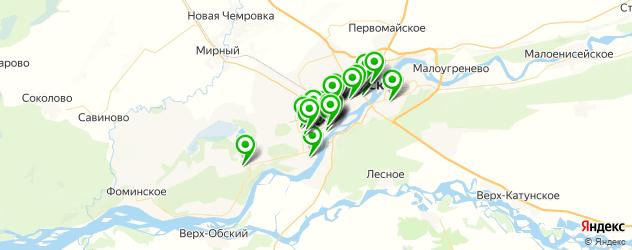 кондитерские на карте Бийска