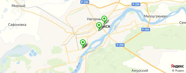 букмекерские конторы на карте Бийска