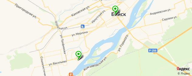 кинотеатры на карте Бийска