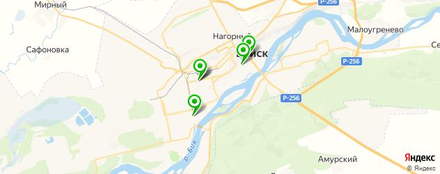 японские рестораны на карте Бийска
