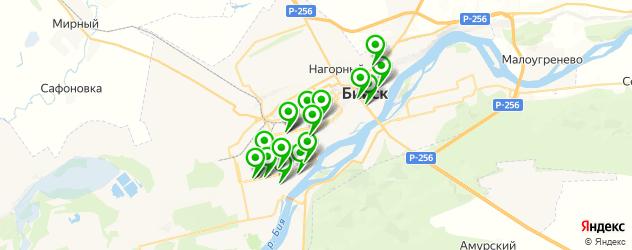 Доставка пиццы на карте Бийска