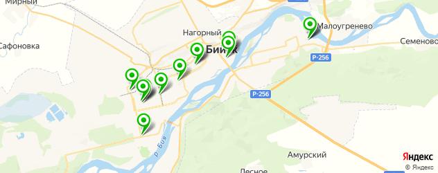 общежития на карте Бийска