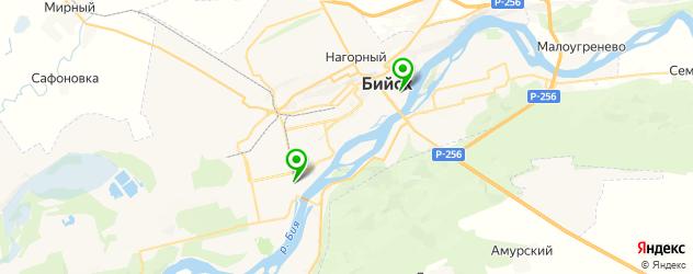 рестораны с детской комнатой на карте Бийска