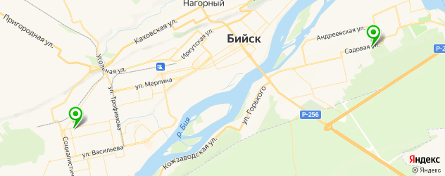 травмпункты на карте Бийска