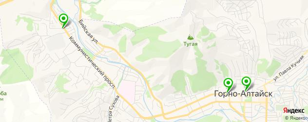 вегетарианские кафе на карте Горно-Алтайска